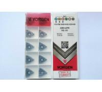 Твердосплавная пластина резьбовая 22IR 4.0TR VDL155 для внутренней резьбы VORGEN