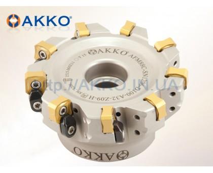 Фреза торцевая насадная AFM88C-SN1206-D100-A32-Z09-H под пластину SNMX 1206.. AKKO