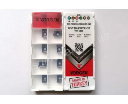 Твердосплавная пластина фрезерная APKT 100308PDR-CM VKP1255 VORGEN