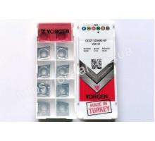 Твердосплавная пластина токарная CCGT 120402-KF VGK10 VORGEN