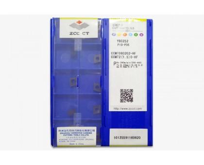 Твердосплавная пластина токарная CCMT 060202-HF YBC252 ZCC-CT