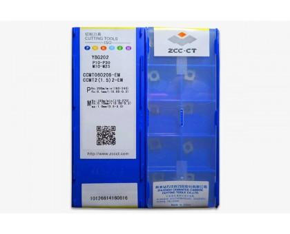 Твердосплавная пластина токарная CCMT 060208-EM YBG202 ZCC-CT