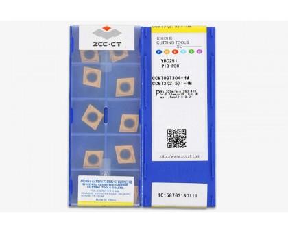 Твердосплавная пластина токарная CCMT 09T304-HM YBC251 ZCC-CT