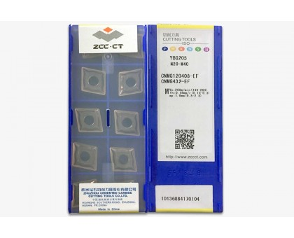 Твердосплавная пластина токарная CNMG 120408-EF YBG205 ZCC-CT