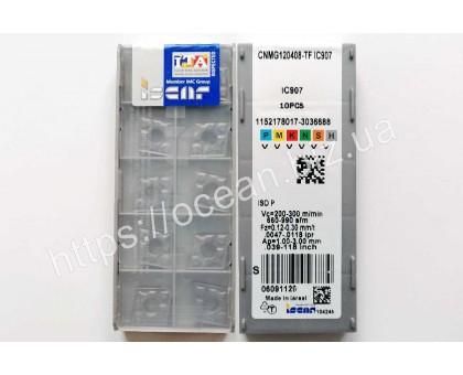 Твердосплавная пластина токарная CNMG 120408-TF IC907 ISCAR