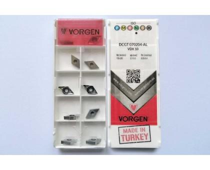 Твердосплавная пластина токарная по алюминию DCGT 070204-AL VDK10 VORGEN