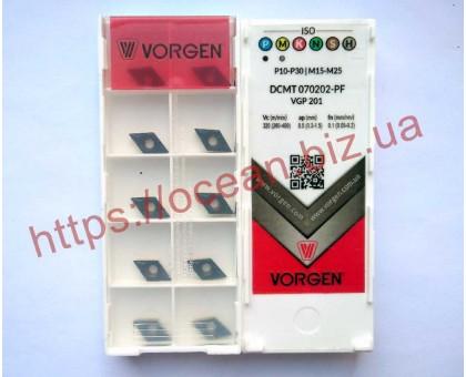 Твердосплавная пластина токарная DCMT 070202-PF VGP201 VORGEN