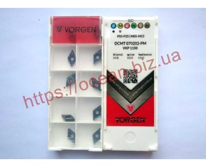 Твердосплавная пластина токарная DCMT 070202-PM VKP1150 VORGEN