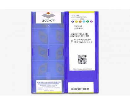 Твердосплавная пластина токарная DCMT 11T304-HM YBC252 ZCC-CT