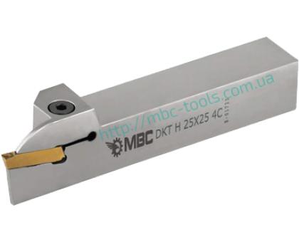 Резец токарный канавочный отрезной DKT-H 32x32 4C для наружных канавок под пластину S229.04.. (HORN) державка MBC