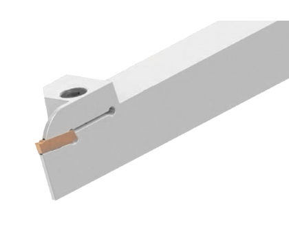 Резец токарный канавочный отрезной DKT-HK 25x25 4C L для наружных канавок под пластину S224.04.. (HORN) державка MBC