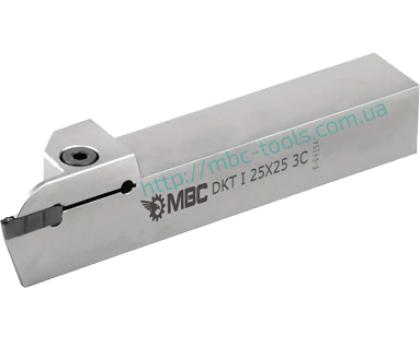 Резец токарный канавочный отрезной DKT-I 16x16 2C L для наружных канавок под пластину DGN 20.. (ISCAR) державка MBC