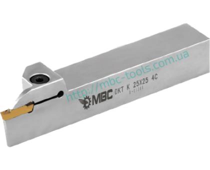 Резец токарный канавочный отрезной DKT-K 16x16 2C L для наружных канавок под пластину MGM. 200 (KORLOY) державка MBC