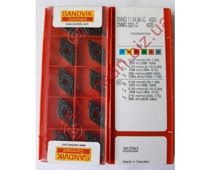 Твердосплавная пластина токарная DNMG 110408-LC 4325 SANDVIK