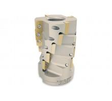 Фреза цилиндрическая (кукуруза) с винтовым расположением т/с пластин HF52 D63 d32 Z20 K75 L100 AP--16 под пластину AP.. 1604.. (ISO) TEKNIK