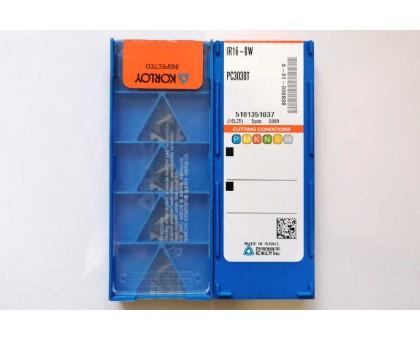 Твердосплавная пластина резьбовая IR16-8W PC3030T для внутренней резьбы KORLOY
