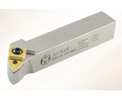 Резец токарный проходной MWLNL 2020 K06 под пластину WNMG 0604.. державка AKKO