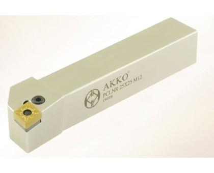 Резец токарный проходной PCLNR 2020 K09 под пластину CNMG 0903.. державка AKKO