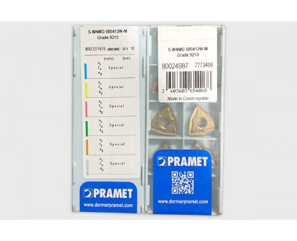 Твердосплавная пластина токарная S-WNMG 080412W-M 9210 PRAMET