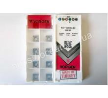 Твердосплавная пластина токарная SCGT 09T302-KF VGK10 VORGEN