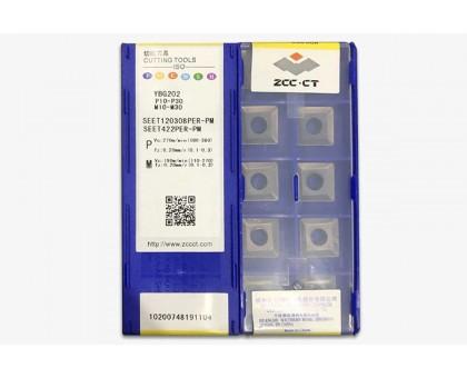 Твердосплавная пластина фрезерная SEET 120308PER-PM YBG202 ZCC-CT