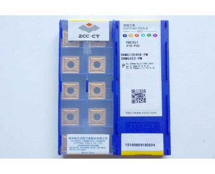 Твердосплавная пластина токарная SNMG 120408-PM YBC251 ZCC-CT