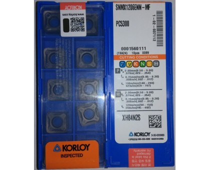 Твердосплавная пластина фрезерная SNMX 1206ENN-MF PC5300 KORLOY