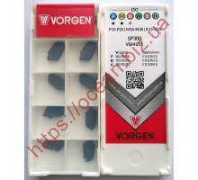Твердосплавная пластина канавочная/отрезная SP300 VGM255 VORGEN