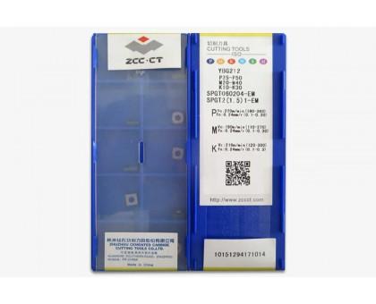 Твердосплавная пластина для сверла SPGT 060204-EM YBG212 ZCC-CT