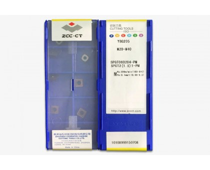 Твердосплавная пластина для сверла SPGT 060204-PM YBG205 ZCC-CT