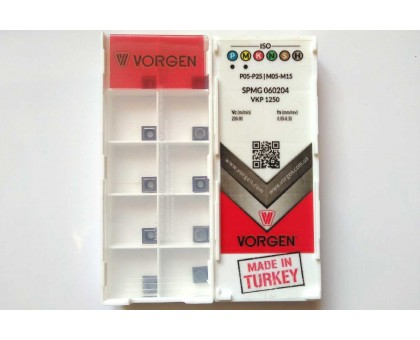 Твердосплавная пластина для сверла SPMG 060204 VKP1250 VORGEN