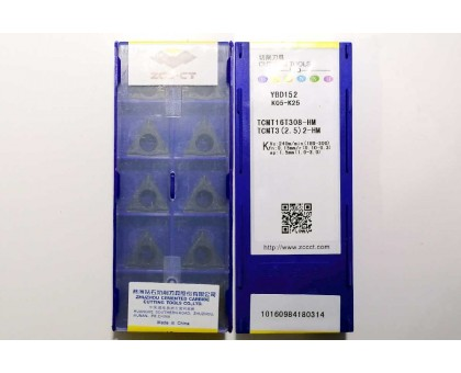 Твердосплавная пластина токарная TCMT 16T308-HM YBD152 ZCC-CT