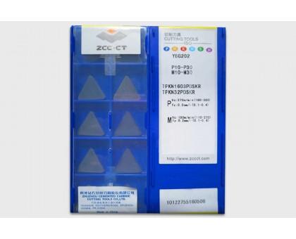Твердосплавная пластина фрезерная TPKN 1603PDSKR YBG202 ZCC-CT