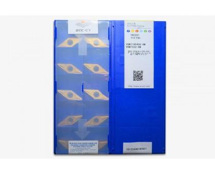 Твердосплавная пластина токарная VBMT 160408-HM YBC251 ZCC-CT
