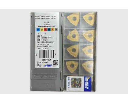 Твердосплавная пластина токарная WNMG 080412-WG IC9150 ISCAR