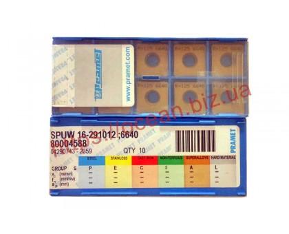 Твердосплавная пластина фрезерная SPUW 16-291012 6640 PRAMET
